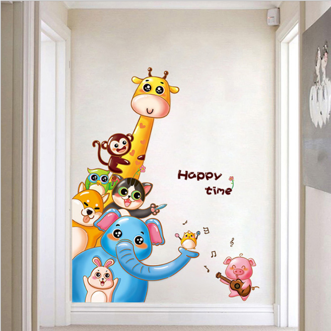 Pig Animal Wall Stickers For Kids Room
