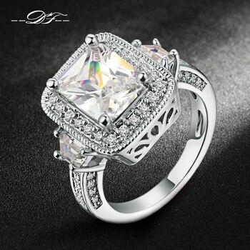 роскошный преувеличены шокер 18K Серебряный мода стразы кольца кольцо перстень всевластия колечки перстнем оптом  dfr301 панк рок женские для женщин женское обручальные обручальное свадьба свадебная ювелирные изделия