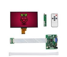 ЖК-дисплей IPS 1024*600, TFT монитор с пультом дистанционного управления доской драйвера 2AV HDMI VGA для оранжевого Raspberry Pi 3