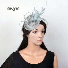 NEW Silver gray fascinator sinamay Royal wedding Hat bridal headpiece for mother of the bride,bridesmade,Kentucky Derby