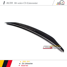 Caracter Design style Carbon Fiber Auto Tuning Spare Parts Car racing kit Rear Wing Spoiler for audi A6 C6 2009-2012
