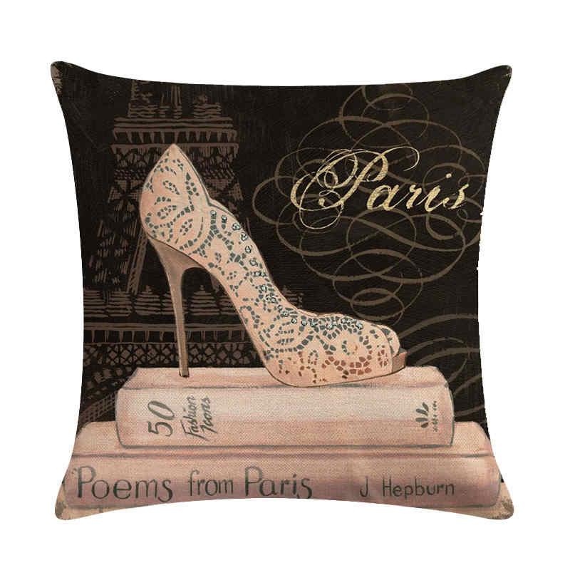 Для женщин мира-ретро высокие каблуки HomerDecor Чехлы бросок наволочка наволочки 45*45 см диван подушки сиденья decorativ