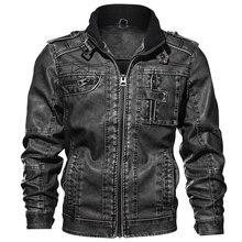 Chaqueta de piel sintética de calidad 7XL para hombre, abrigo de otoño ajustado, chaquetas de piel sintética para motocicleta, abrigos para hombre, ropa de marca