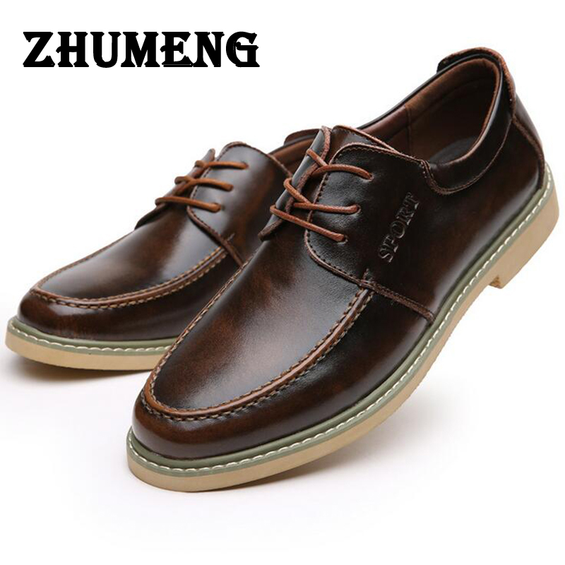 Business men dress shoes Man boat shoes dress Male Genuine Leather Circle Head Shoe Cow Split Muscle Single Flats Casual brand leather casual shoes zapatillas hombre casual sapatos business shoes oxford flats hand made man shoe free shipping sv comfort