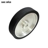 250 50 25mm Flat Surface Belt Grinder Rubber Contact Wheel Abrasive Belt Set