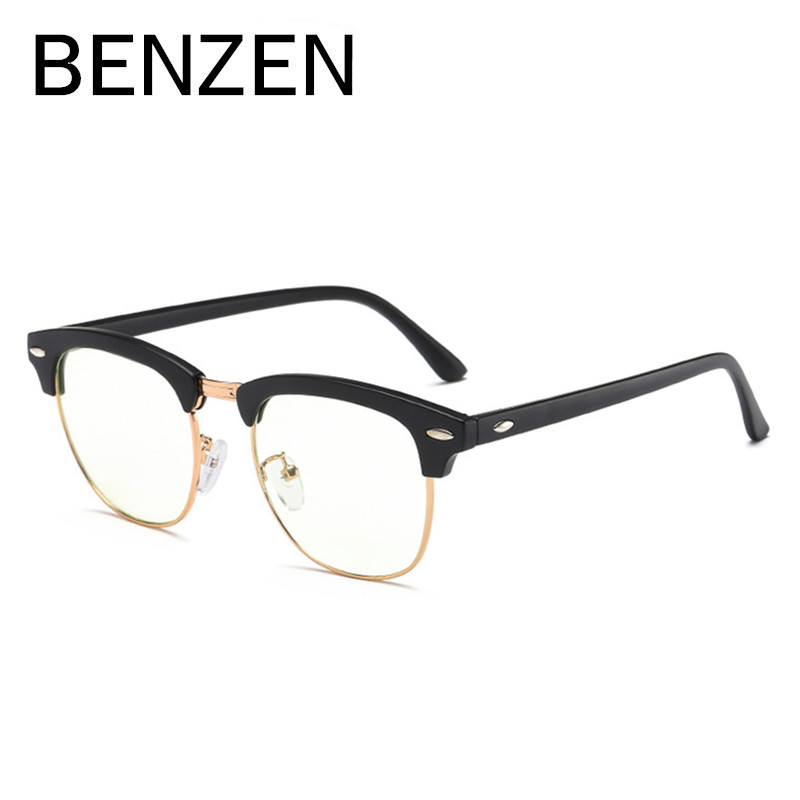 BENZEN Anti Blue Rays Computer Glasses Vintage Readers Reading Glasses Glasses For TV Gaming Goggles With Case 5123 classy alloy framed presbyopia reading glasses with protective case 2 50