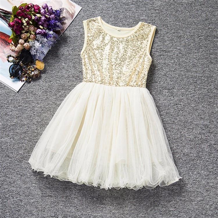Summer Dresses For Girl 2018 Girls Clothing White Beading Princess Party Dress Elegant Ceremony 4 5 6 Years Teenage Girl Costume