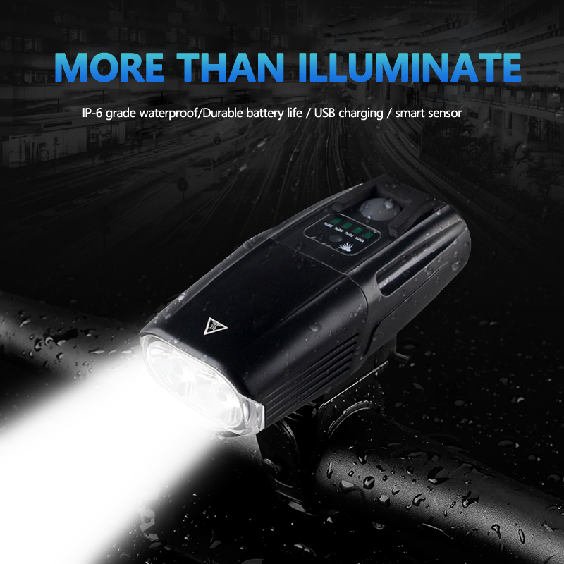 Bike-Light Intelligent Smart-Induction-Sensor MTB Usb-Rechargeable 5-Mode Portable