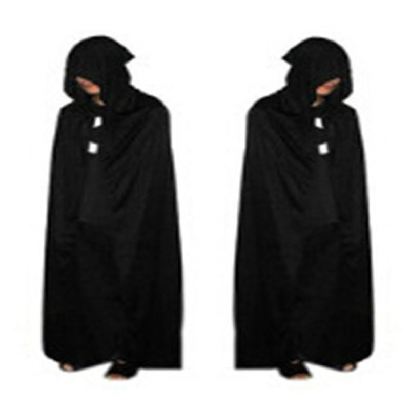 Gothic Hooded Stain Cloak Wicca Robe Witch Larp Cape Women Men Halloween Costumes Witche Vampires Fancy Party