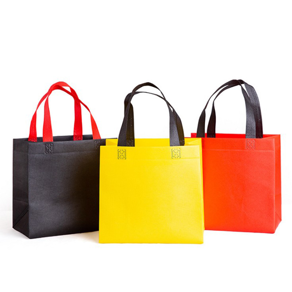 Casual Women Foldable Shopping Bag Reusable Eco Unisex Fabric Non-woven Shoulder Fabric Bags Tote Grocery Bags Pouch Lunch Bag