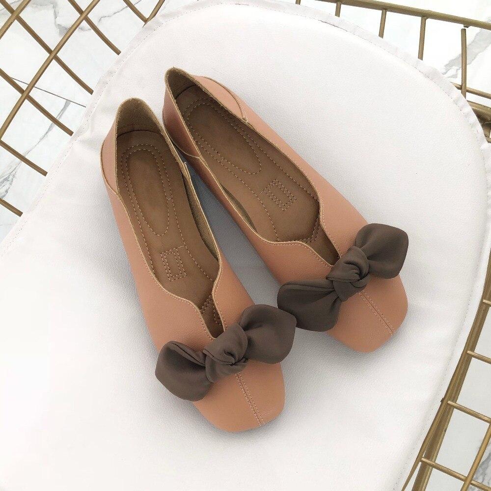 7e86dc0cfd2 Fondo Pajarita Sole Fur Ballet Zapatos Mujeres Adicional Orange No  Plantilla Slip On With Sole orange Casuales Conejo Plano ...