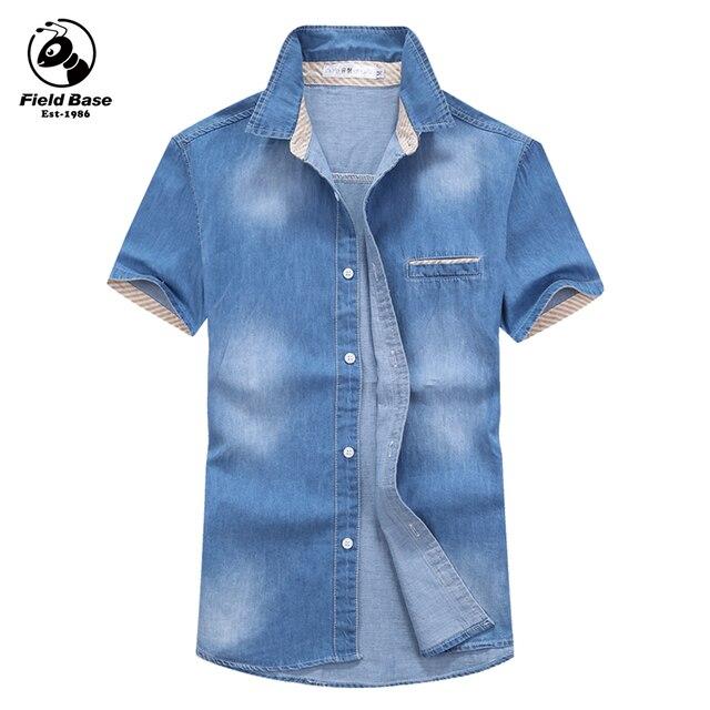 9b889135dc 2017 Nova Camisa Polo Dos Homens de Verão Casual Masculino Camisa de  Algodão de Moda Jeans