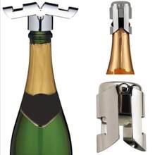 Aço inoxidável abridor de garrafa cerveja vácuo selado espumante champanhe garrafa de vinho saver tampa rolha abridor de garrafa para barra ferramenta