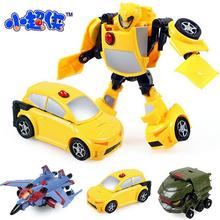 3 styls/lot  Mini Classic Transformation Plastic Robot Cars Action Figures Toy Kids Education Toys Children Birthday Gift