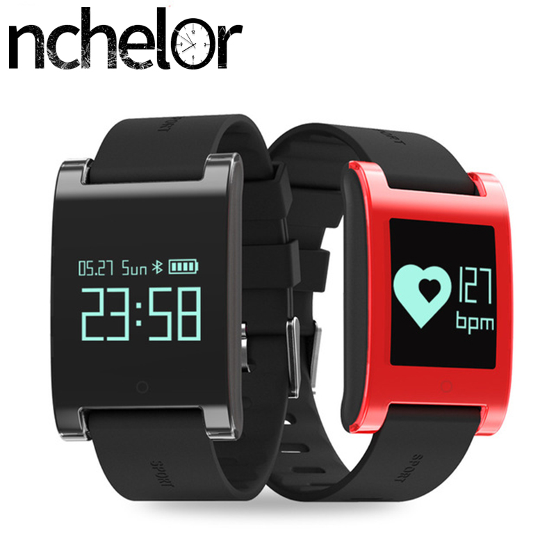 New Smart Wristband Blood Pressure Heart Rate Monitor Bluetooth Call Reminder Activity Tracker Fitness Bracelet Waterproof IP67 makibes dm58 smart bracelet blood pressure heart rate monitor ip68 waterproof call reminder activity tracker smart band