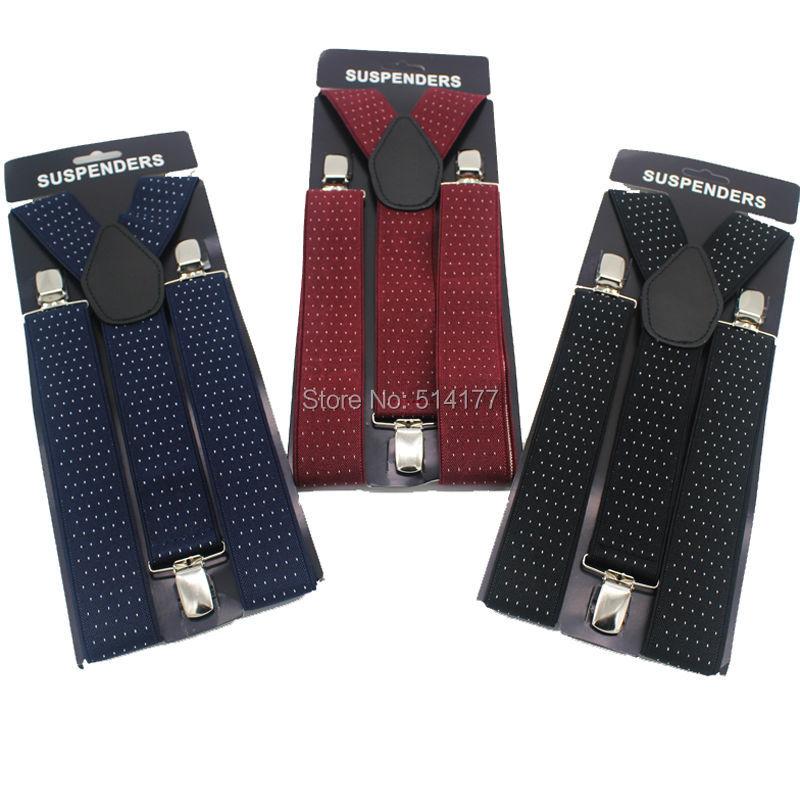 Man Suspenders Men's Braces Jacquard Weave 3 Clips Elastic  Bretelles Adult Quality Ligas Tirantes Free Shipping