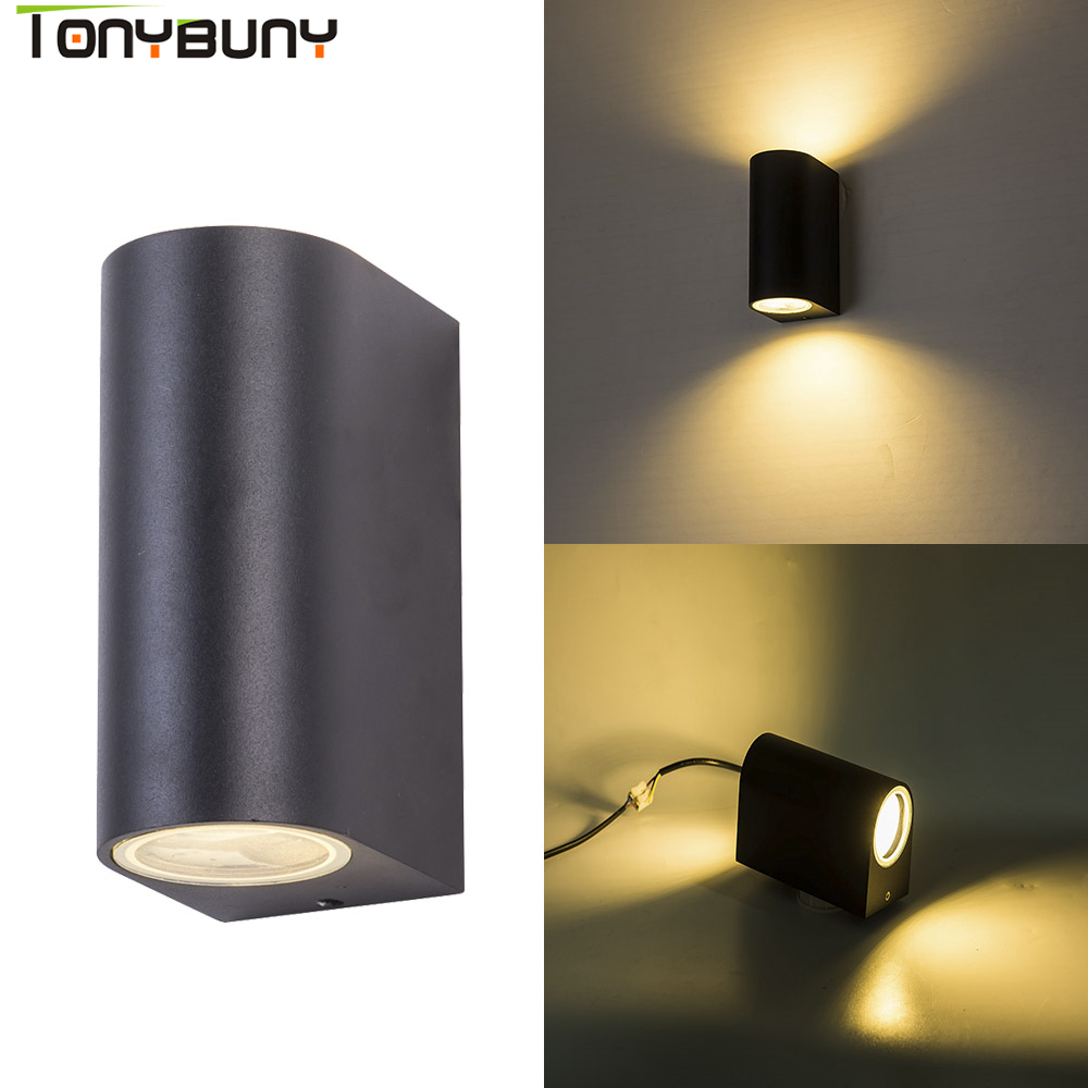 10W led wall light for bedroom aluminum porch lights waterproof wall mounted lamp wall sconces with GU10 spotlight IP65 in LED Indoor Wall Lamps from Lights Lighting