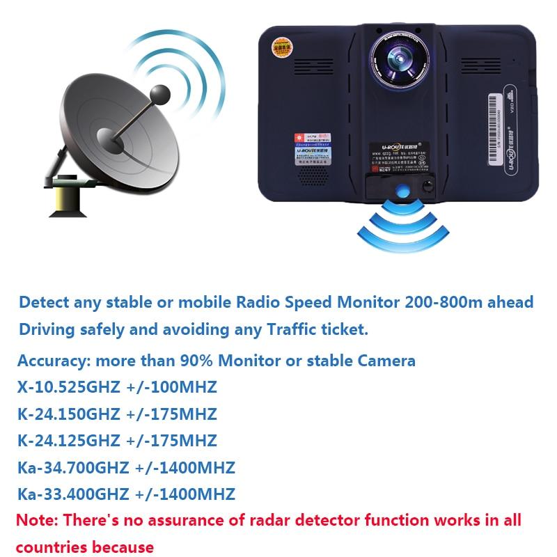 sbhei 7 pulgadas GPS Navegación GPS detector de radar android con - Electrónica del Automóvil - foto 3