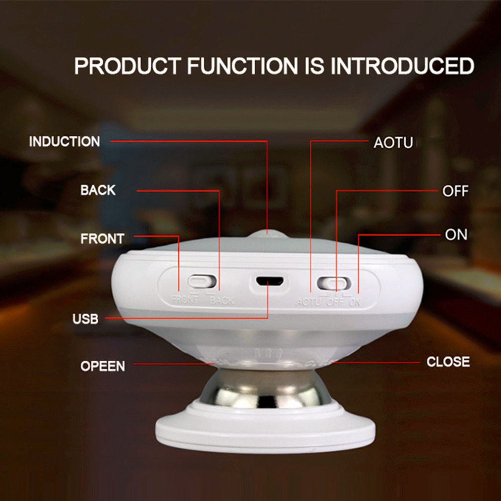 Creative Low Power Consumption 360 Degree Rotation Night Light Super Bright Home Bedroom Living Room LED Light Lamp