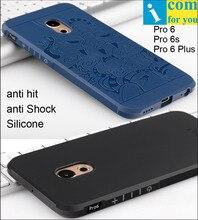 Сопротивление падение Броня анти хит Shock Silicone Case Для Meizu Pro6 Pro 6 Плюс 3D резной Дракон Крышка Pro 6s