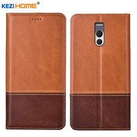 Case for Meizu M6 Note KEZiHOME Double Colors Genuine Leather Flip wallet Cover for Meizu M6 Note 5.5'' Phone cases
