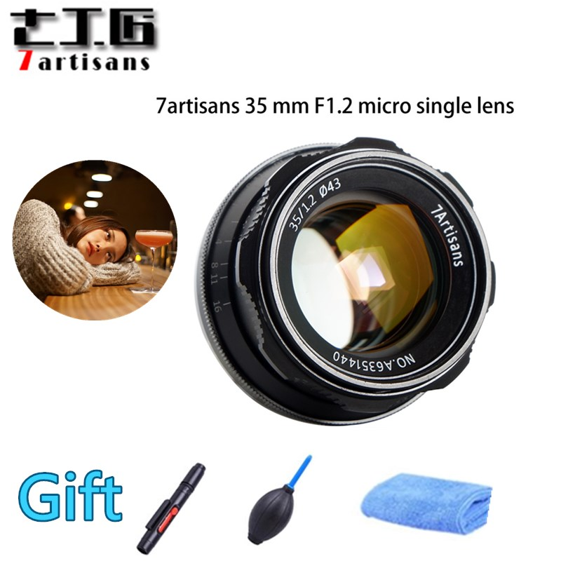 7artisans 35mm F1.2 Prime Lens for Sony E-mount / / for Fuji XF APS-C Camera Manual Mirrorless Fixed Focus Lens A6500 A6300 X-A17artisans 35mm F1.2 Prime Lens for Sony E-mount / / for Fuji XF APS-C Camera Manual Mirrorless Fixed Focus Lens A6500 A6300 X-A1