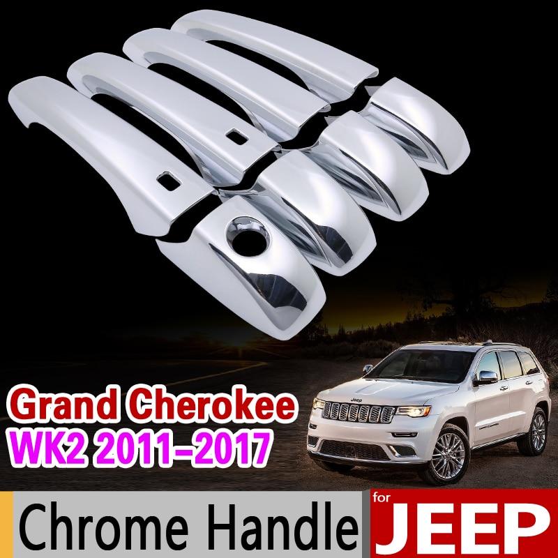 New Chrome Door Handle Cover Trim For 2007 2008 2009 2010-2015 JEEP Wrangler
