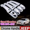 Набор хромированных покрытий для JEEP Grand Cherokee WK2 2011-2017 2012 2013 2014 2015 2016  автомобильные аксессуары  стикер для стайлинга автомобиля