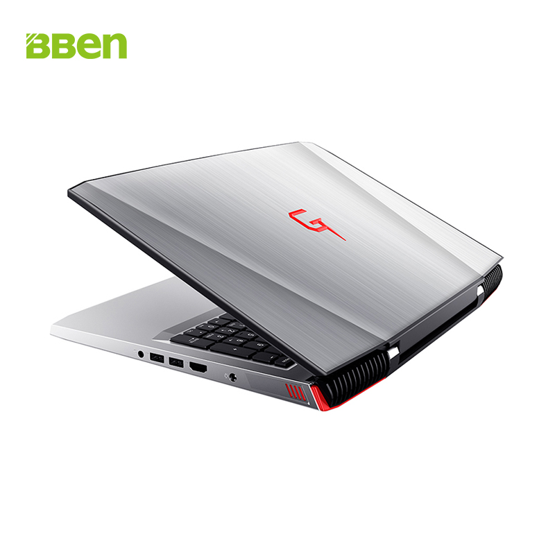 BBEN G16 15.6'' Laptop NVIDIA GTX1060 6G Intel I7 7700HQ Windows 10 16GB RAM + 256G SSD + 1T HDD RGB Backlit Keyboard IPS Screen