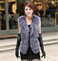 2017 new imitation fur vest imitation fox fur fashion temperament high end vest