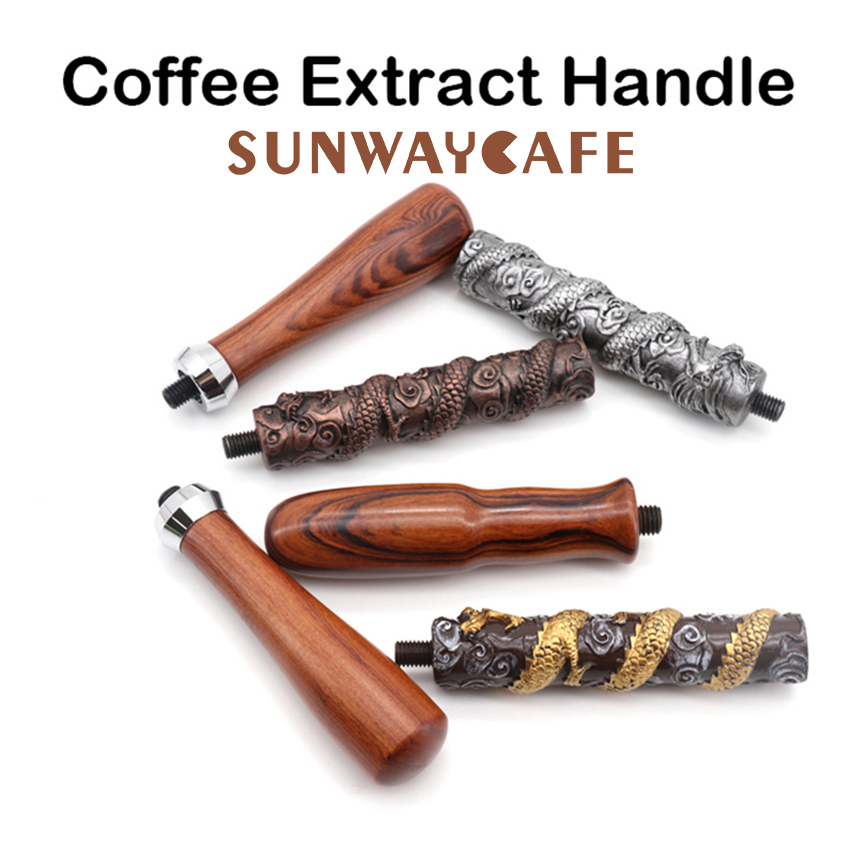 Espresso Coffee Portafilter Handle M10/M12 Cafe Machine Solid Wooden Handle Coffee Maker Tools Accessories For Barista