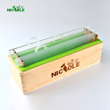 Rectangular Silicone Soap Mold with Wood Box and Transparent Vertical Acrylic Clapboard for Handmade Loaf Mould