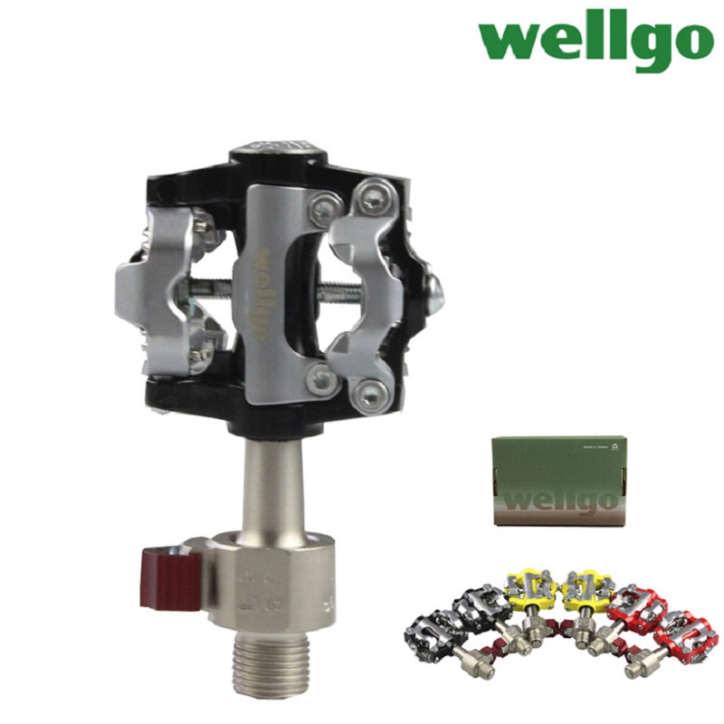 Wellgo Original Ultralight WAM-M19 Mountain Bike Pedals Quick Release WPD-M19 MTB Aluminium Alloy 6061 CNC Self-locking Pedals