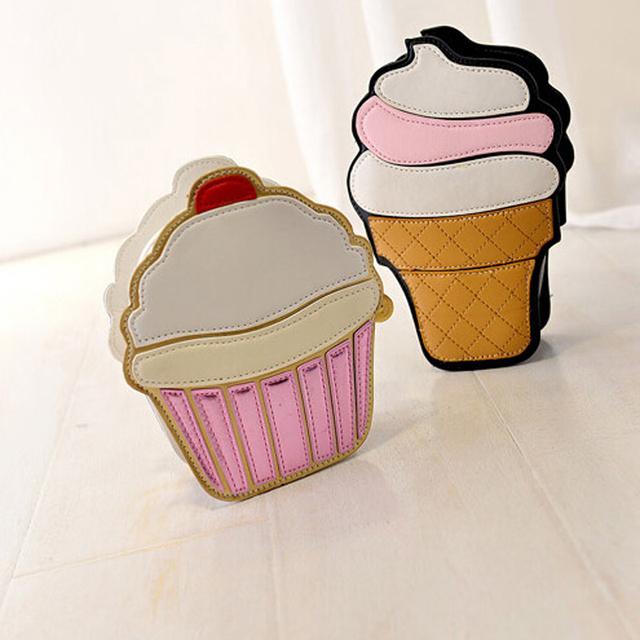 Ice cream/Cupcake Mini Crossbody Bag