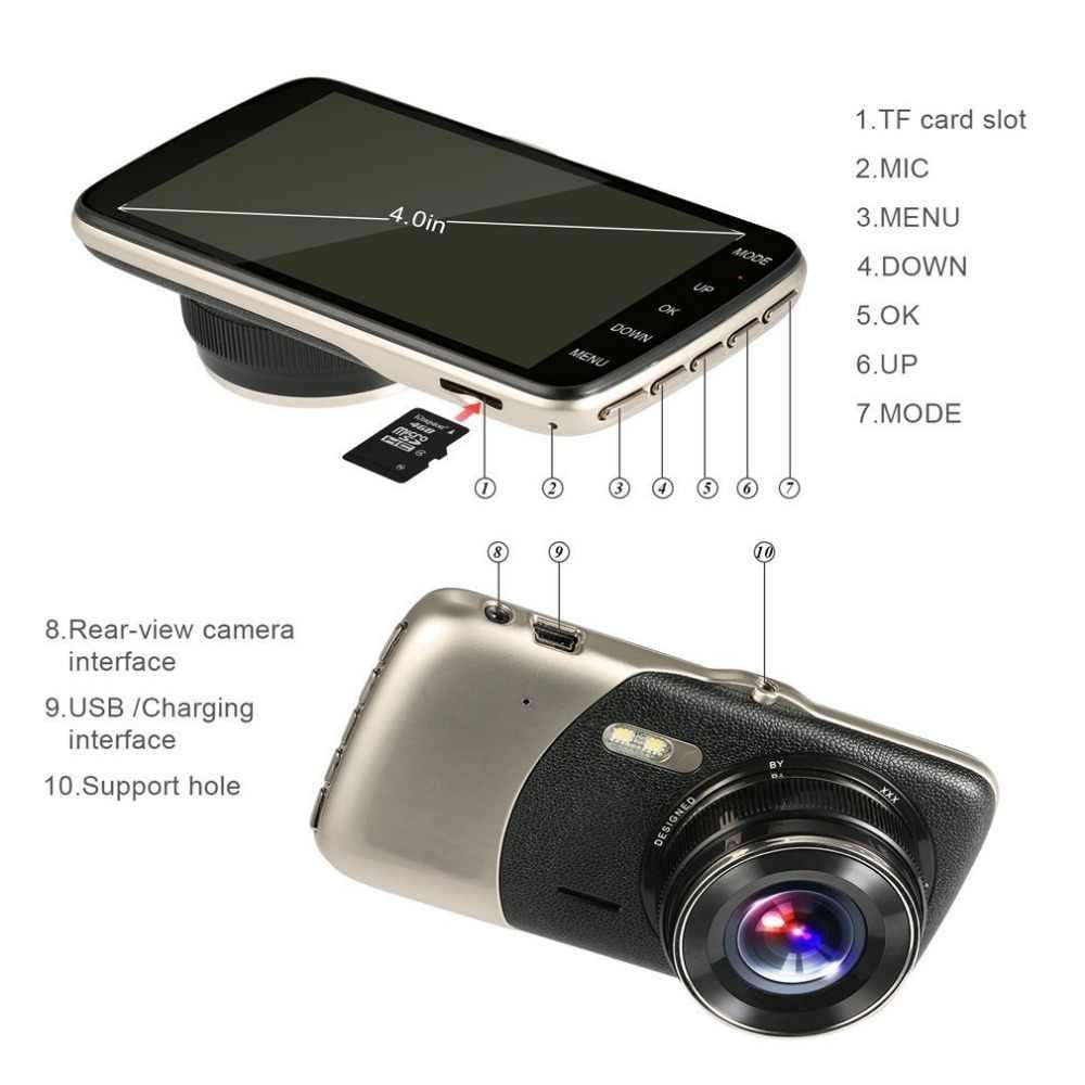 Mới 4.0 Inch IPS Màn Hình Ô Tô Đầu Ghi Hình Camera T810 Oncam Dash Camera Full HD 1080P Xoay 170 Độ dash Cam