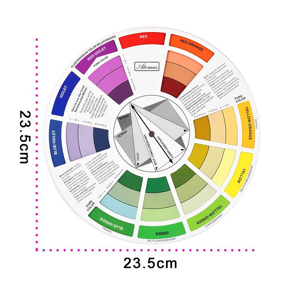 Aliexpress Com Buy Atomus 10pcs Tattoo Ink Color Wheel Chart