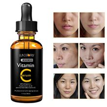 Vitamin C Serum Whitening & Anti-Aging Fade Spots Removing Freckle Anti Winkles Moisturizing Face Cream VC 30ml(China)