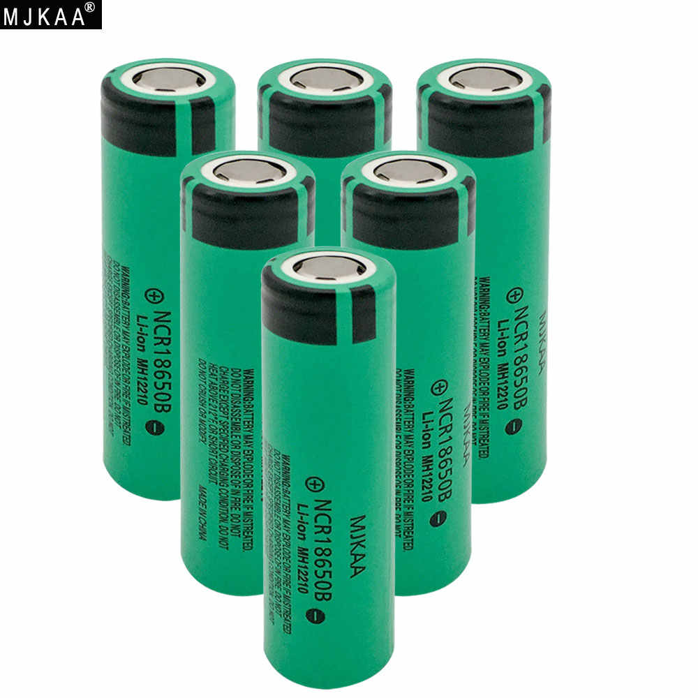 MJKAA 6 шт./лот, оригинальный NCR 18650 B, перезаряжаемый аккумулятор, 3,7 в, 3400 мАч, NCR18650B, литий-ионный аккумулятор