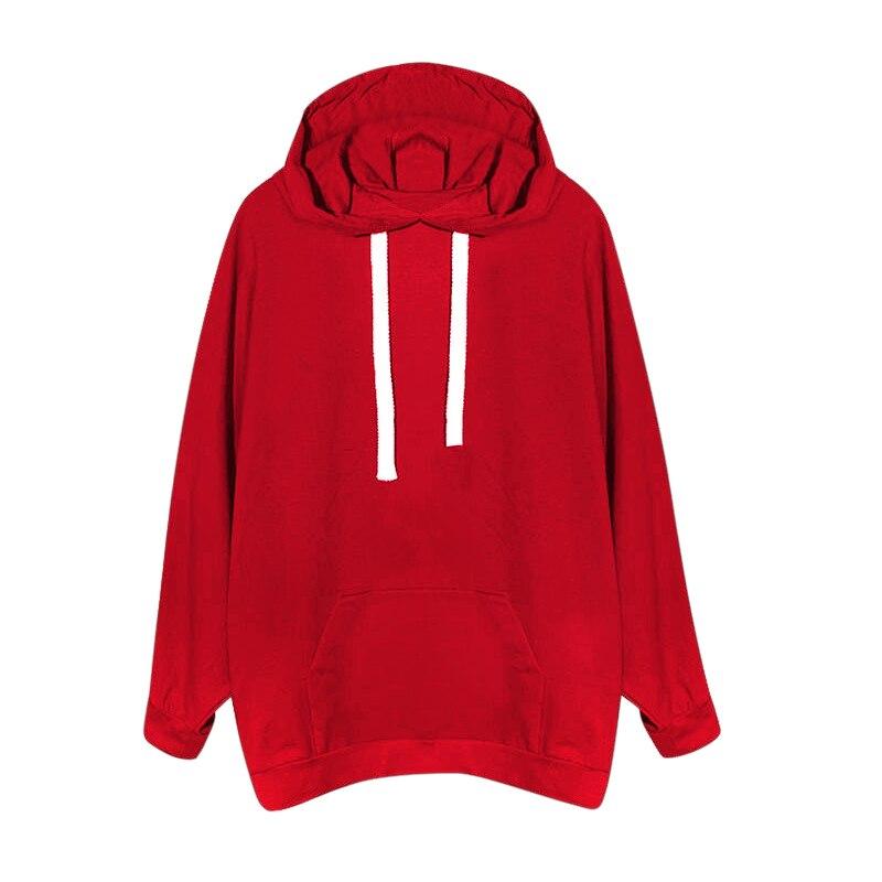 Oversized 2017 Spring Autumn Women Long Sleeve Hooded Loose Casual Hoodies Sweatshirt Solid Drawstring Women Hoodies Pullovers