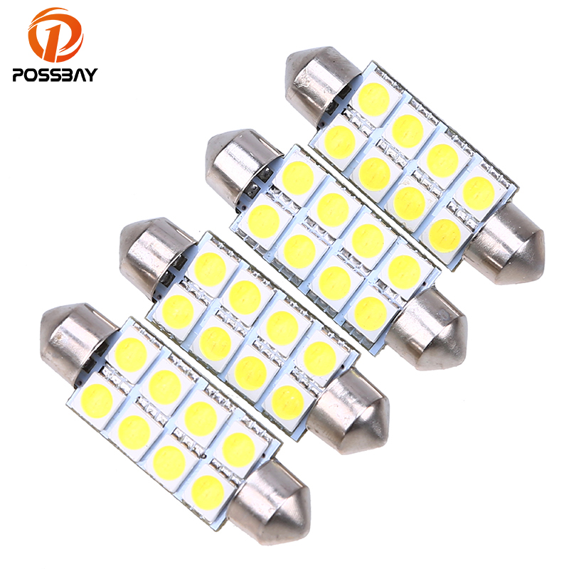 Car Headlight Bulbs(led) Possbay 1/2/4 Piece 41mm 5050 8 Smd White Micro General Car Interior Festoon Dome Led Light Bulbs Dc12v For Vw Audi Alfa Romeo To Have A Unique National Style Automobiles & Motorcycles