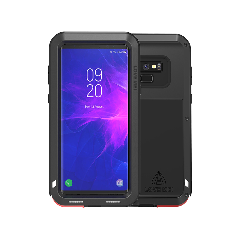 For Samsung Galaxy Note9 Case Metal Aluminum waterproof case cover For samsung galaxy note 9 case fundas Shockproof silicone in Fitted Cases from Cellphones Telecommunications