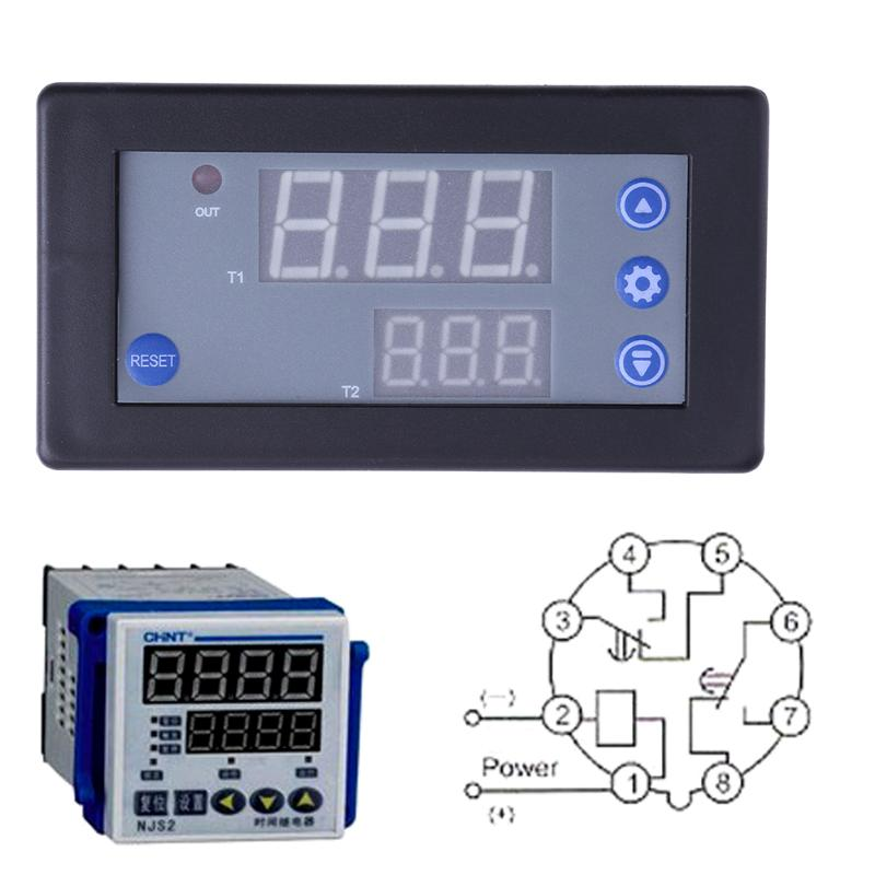 High Quality 12V Timing Delay Relay Module Cycle Multifunction 0-999h Timer Digital LED Dual Display dc12v 20a 1500w timing delay relay module timing timer digital display time delay cycling module 0 999h 0 999s 0 999m