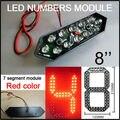"""8 """"de color rojo llevó el módulo números digita, exhibición llevada precio del gas, llevó la muestra, tabla de publicidad, led cartelera, pantalla led de temperatura y tiempo"""