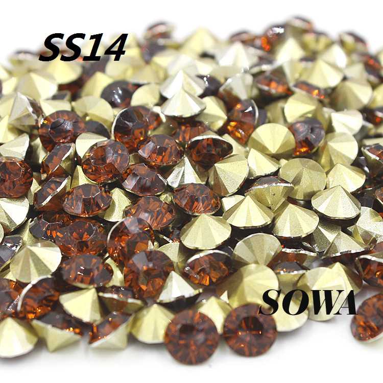 New Free Shipping (50G)7200pcs/lot SS14(3.4-3.5mm) Brown Color Resin Pointback For Bags/Garment/Shoes DIY