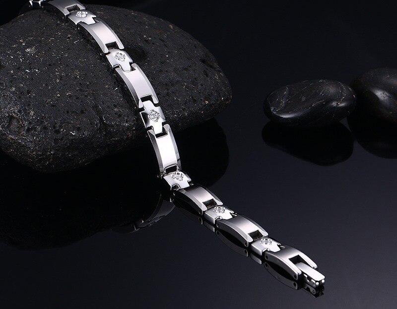 Купить женский браслет из чистого вольфрама магнитный 3 а с кубическим