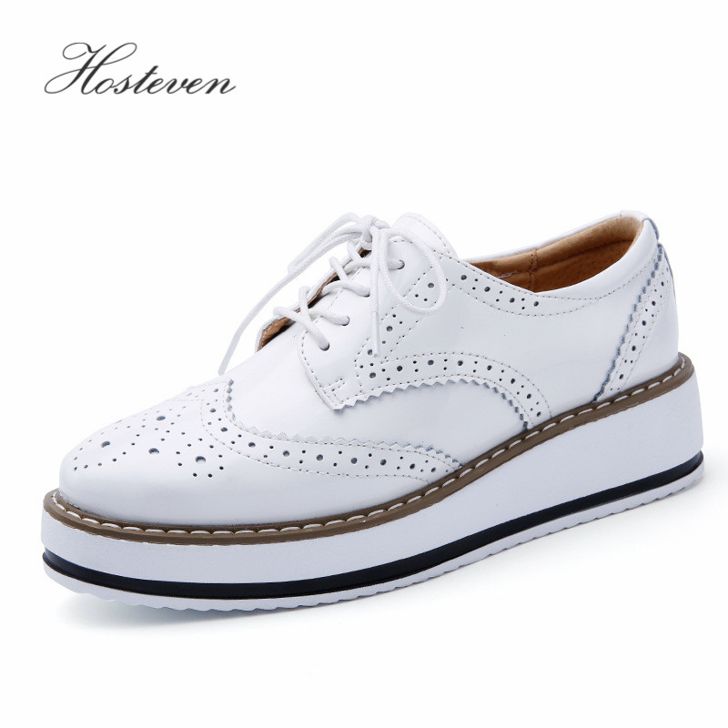 Hosteven Women's Shoes Loafers Casual Genuine Leather Hole Shoes Moccasins Ladies Shoe Woman Female Flats Mother Footwear women s shoes hosteven pu leather loafers comfortable shoes women flats moccasins solid ladies casual shoe ballet footwear