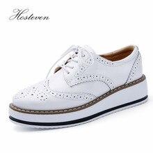 Hosteven sapatos femininos mocassins casuais couro genuíno buraco sapatos mocassins senhoras sapato mulher fêmea apartamentos mãe calçado