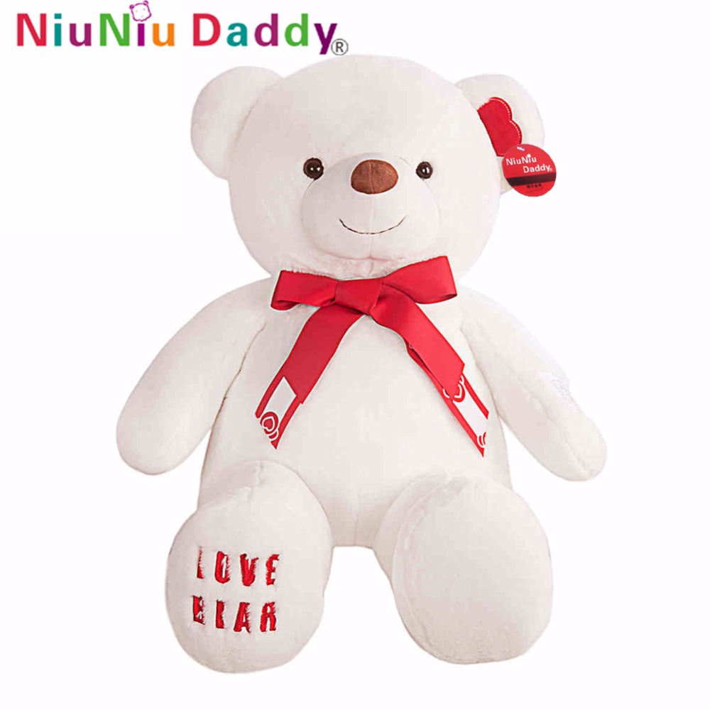 Niuniu Daddy 35.5 Plush Teddy Bear Stuffed Animal Toy Plush White Teddy Bear Kids Animal Toys Giant Bear Birthday Gift cartoon movie teddy bear ted plush toys soft stuffed animal dolls classic toy 45cm 18 kids gift