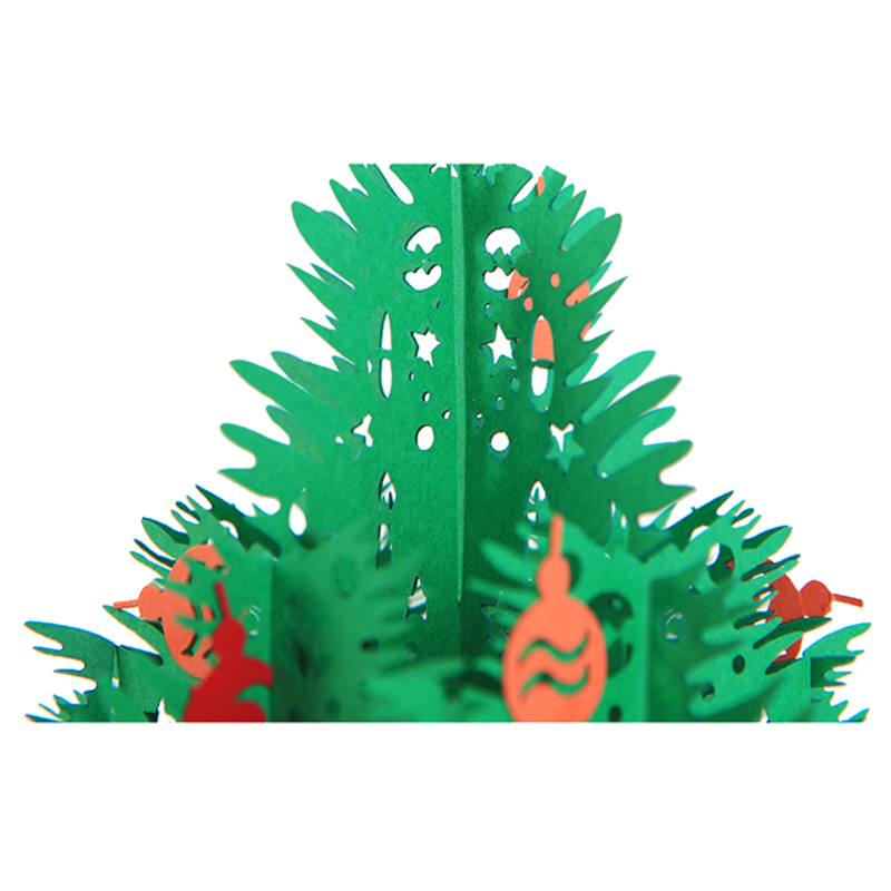 3D Рождественская открытка трехмерная новогодняя елка
