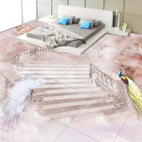 Free Shipping 3D Stereo Flooring Beautiful Fairyland Custom Bedroom Self Adhesive High Quality Wallpaper Mural